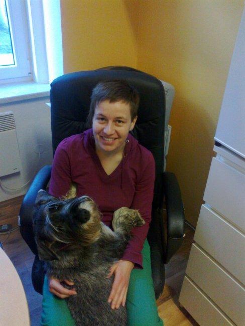 MVDr.Kateřina Stiborová a její věrný přítel Tiki